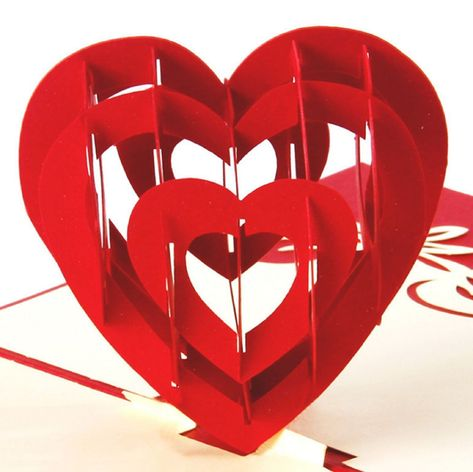 3d Cut Pop Up I Love You Heart Anniversary Wedding Valentine