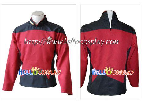 Star Trek Cosplay Kirk Enterprise Costume Archer Jumpsuit Uniform Suit Outfit NN