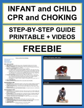 Child And Infant Cpr And Choking Free First Aid Printable