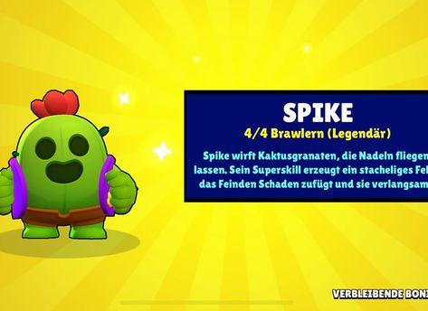 Spike Gezogen Spike Kaktus Brawlstars In 2020 Brawl Spike Enemy
