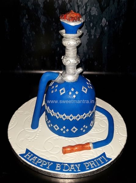 Hookah Shaped Theme Customized Designer 3d Fondant Cake For Girl S