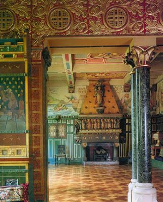 The Tower house owned by Jimmy Page William Burges Interior. Did you know that in addition to being a guitar virtuoso, Mr. Page is a very talented and formally trained painter? He dropped out of art school to play in a band.