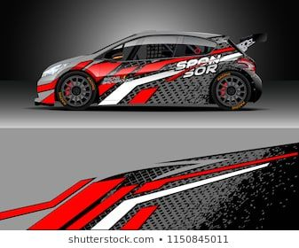 Rally And Drift Car Wrap Design Vector Truck And Cargo Van Decal