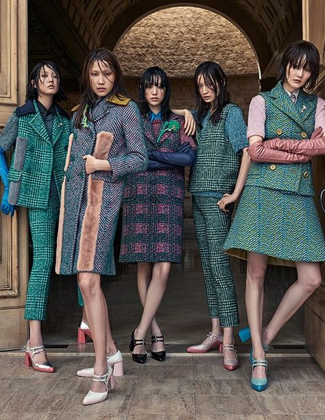 Choi Sora, Lee Hye Jung, Sera Park, Kim Won Kyung, Kang So Young by Kim Young Jun for Elle Korea Sept 2015