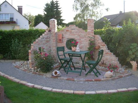 Ruinenmauer 24062011jpg (1639×1229) deko Pinterest Gardens - garten sitzecke mauer