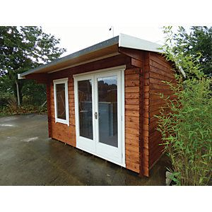 Shire 8 X 8 Ft Dalby Traditional Double Door Log Cabin Double Doors Log Cabin Cabin