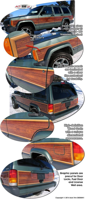 Jeep Cherokee Wood Panel Graphics Kit 1 Jeep Cherokee Jeep Cherokee Xj Jeep