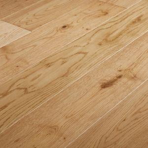 Goodhome Liskamm Natural Oak Real Wood Top Layer Flooring 1 4m Pack Underfloor Heating Systems Real Wood Flooring