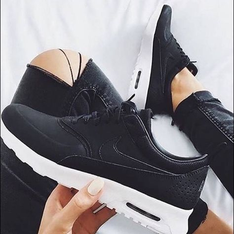 uk availability 62469 2cfee Women s Nike Air Max Thea Prm Brand new with box but no lid. Premium black  leather Nike Shoes Athletic Shoes