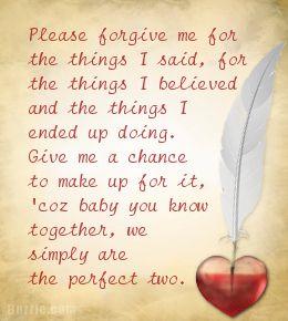 Apology Letters to Boyfriend