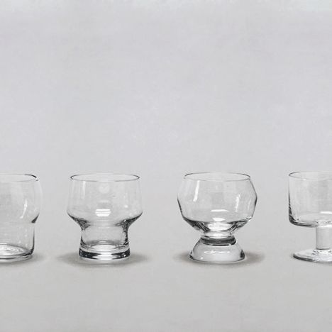 Stackable drinking glasses.