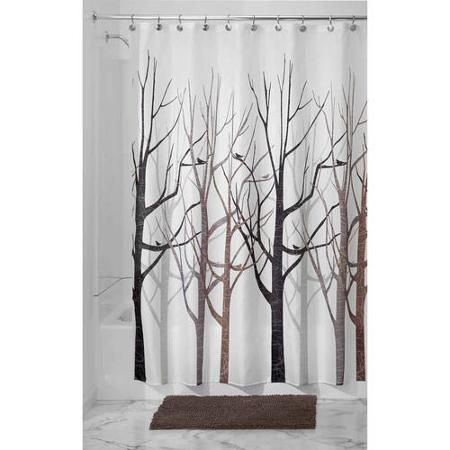 Home Fabric Shower Curtains Patterned Shower Curtain Tree