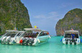رحلة بحرية بسيارة خاصة يوم كامل إلي جزيرة بي بي باللانش القارب السريع