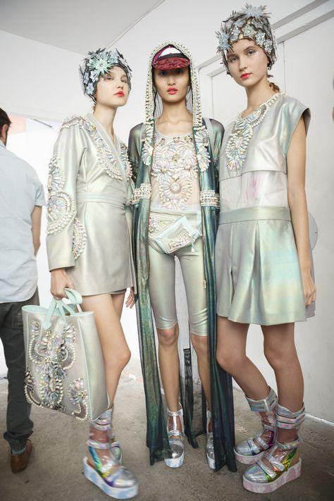 205 backstage photos of Manish Arora at Paris Fashion Week Spring - Fashion For Women İdeas