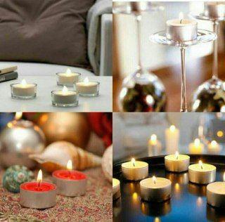 شمع وارمر سکه ای 100 عددی Tea Light Candle Tea Lights Table Decorations