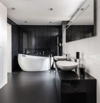 Trendy House Contemporary Interior Black White Ideas Trendy Bathroom Tiles Black Bathroom Black White Bathrooms