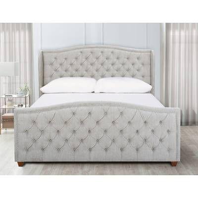 Marlon Panel Bed King Upholstered Bed Upholstered Platform Bed Upholstered Beds