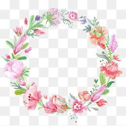 Corona De Flores De Color Diseno Grafico De Flor Circulo De Flores Clipart De Flor