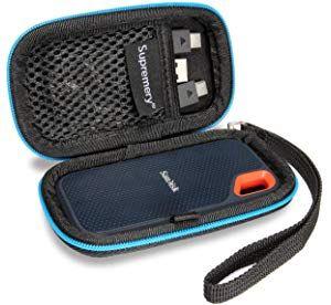 Supremery Tasche Fur Sandisk Extreme Portable Ssd Festplatten Case Schutz Hulle Etui Festplattentasche Hdd Case Fur Festplatte Externe Festplatte Netztasche