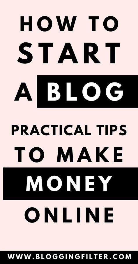 How To Start Online Money Making Blog In 2020