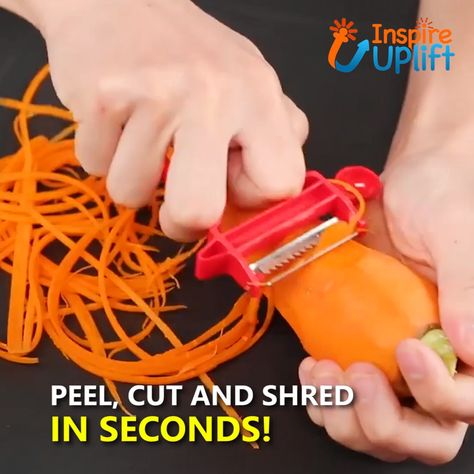 Magic Slicer Trio - ⭐⭐⭐⭐⭐ (5/5)  The Original Magic Slicer Trio features a double-edged, serrated blade which grips and cuts in two directions. This gripping effect makes the peeler very easy to use and it requires almost no pressure, making it of particular advantage to people with arthritis.  Currently 50% OFF with FREE Shipping!