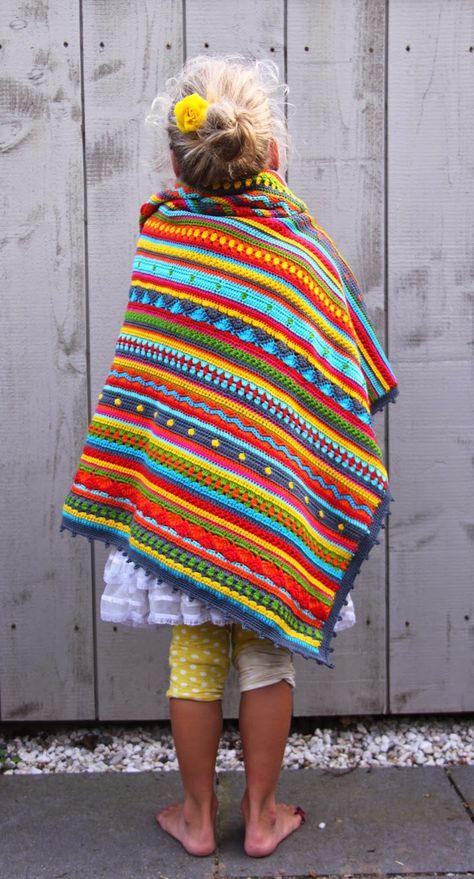 Crochet Cal Babydekentje Kinder Kleidung Kinderkleidung