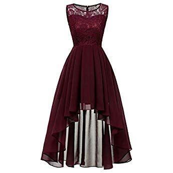 Kanpola Damen Armellos Spitzenkleid Vintage Partykleid Rockabilly Cocktailkleid Kleid