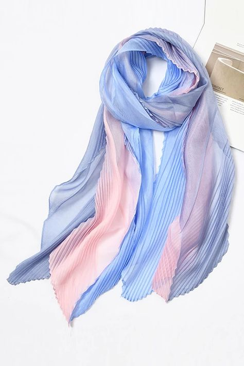 Voile Pleated Scarf – myslady