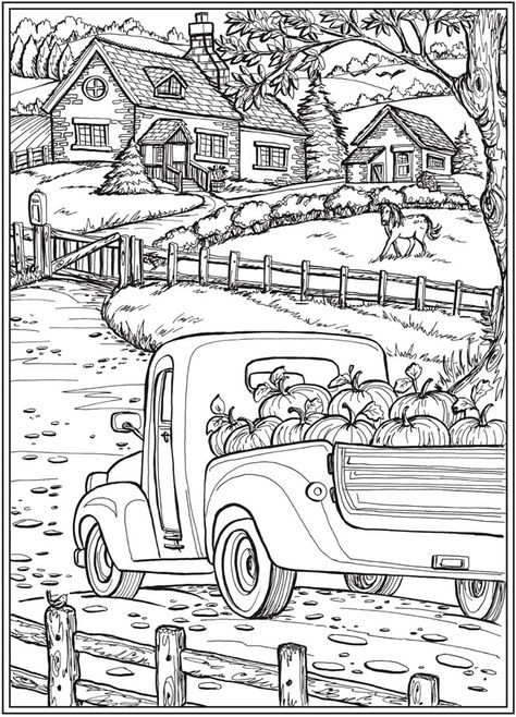 halloween coloring pages Welcome to Dover Publications Welcome to Dover Publications Fall Coloring Pages, Halloween Coloring Pages, Adult Coloring Book Pages, Printable Adult Coloring Pages, Christmas Coloring Pages, Coloring Pages To Print, Coloring Books, Colouring Pages For Adults, Fall Coloring Sheets