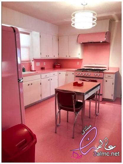 مطابخ الوميتال لون كشمير مطابخ الوميتال لون فيروزي ديكورات مطابخ باللون الوردي2020 Kitchen Remodel Small Vintage Kitchen Appliances Retro Kitchen