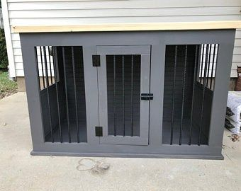 Double Dog Kennel with Cubbies