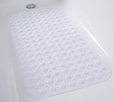 Tike Smart Non Slip Bathtub Mat 31 X16 For Smooth Non Textured