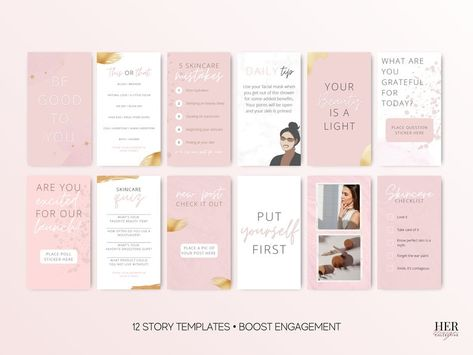Instagram Beauty Post Template IG Canva Story Templates | Etsy