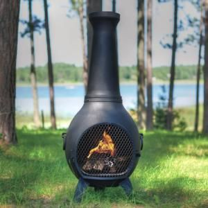 Prairie Chiminea Cast Aluminum Outdoor Fireplace In 2020 Chiminea Fire Pit Clay Fire Pit Outdoor Fire Pit