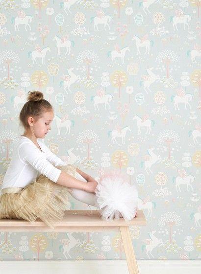 Einhorn Tapete True Unicorns Von Majvillan 3084 Kinderzimmer Tapete Madchen Einhorn Tapete Kinderzimmer Tapete
