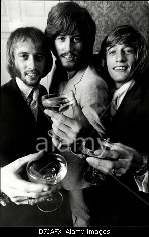 Pop Group The Bee Gees The Bee Gees Were A Stock Photo