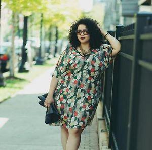 Gabi Fresh sporting an Asos curve shift dress