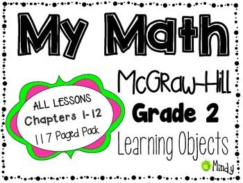 My Math Mcgraw Hill Grade 2 Learning Objectives Chapters 1 12 Mcgraw Hill Math Math Objective 2nd Grade Math