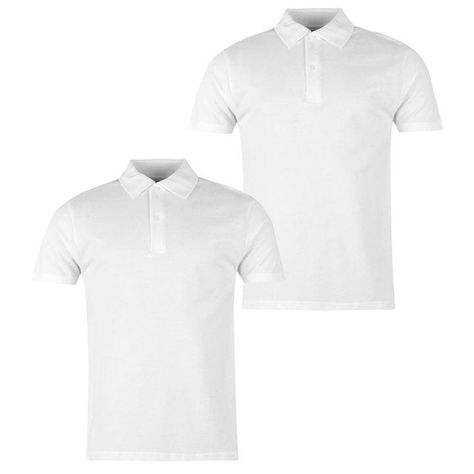 Donnay Two Pack Polo Shirt Mens Black Collared T-Shirt Top Tee Sportswear