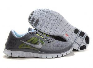 2012 Nike Free Run 5.0 V3 Men Shoes Grey White