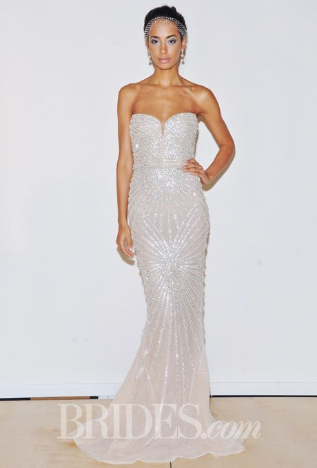 The Jessica Rabbit of wedding dresses If I could get this in blush ...