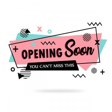 Opening Soon Banner Background Backdrop Banner Png And Vector With Transparent Background For Free Download In 2020 Logo Online Shop Marketing Colors Geometric Pattern Background