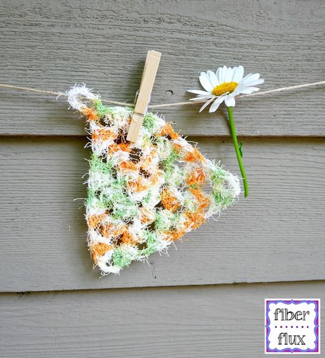 Free Crochet Pattern...Triangle Scrubbies! | Crochet | Pinterest ...