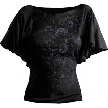 Entwined boatneck gothic women's top by Spiral