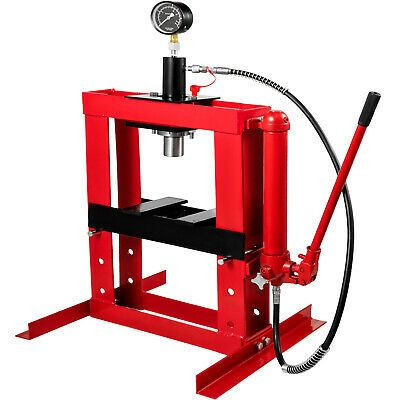 Ad Ebay Link 10 Ton Hydraulic Shop Press Floor Stand Jack 178mm Stroke Heavy Duty With Gauge In 2020 Hydraulic Shop Press Shop Press Hydraulic