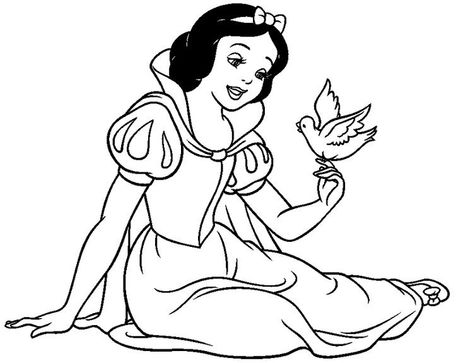 Snow White Coloring Pages Free To Print In 2020 With Images