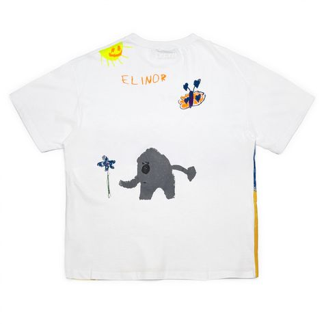 941b7fe185893 VETEMENTS Elephant Elinor T-Shirt (White)