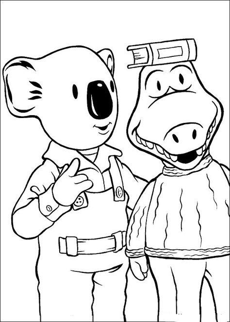 Koala Brodrene Fargelegging For Barn Tegninger For Utskrift Og