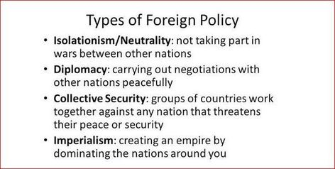 ✒📖 Types Of Foreign Policy and Choices ✒📖