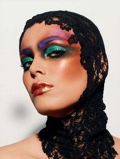My Black wig and this look would be PERFECT together. I want to use Neons instead, maybe Denis Kartashov